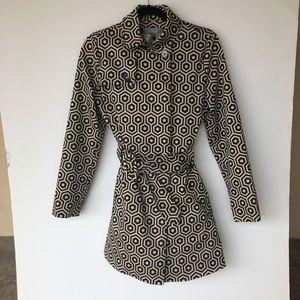 Liz Claiborne Geometric Print Trench Coat
